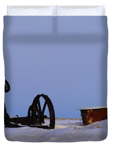 A Bath After Harvest Duvet Cover by Jeff Swan