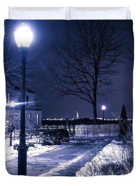 A Battery Park Winter Duvet Cover