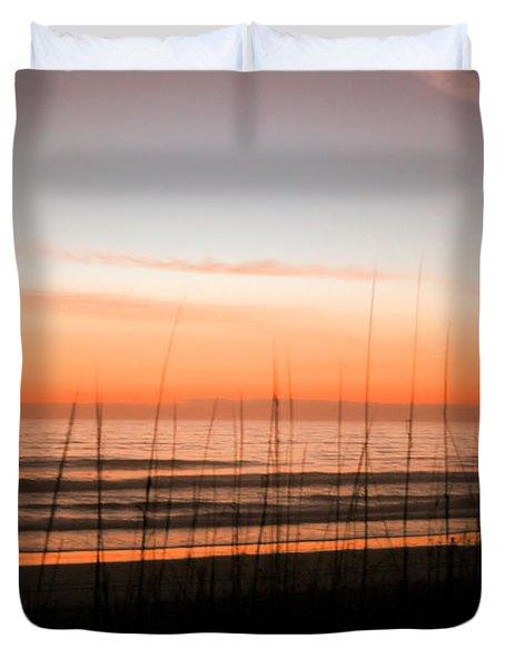 A Beachwork Orange Duvet Cover