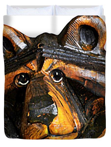 A Bear Expression Duvet Cover by Susan Leggett