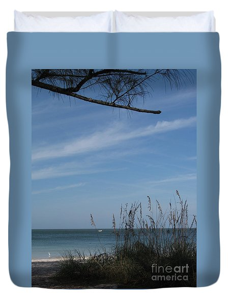 Duvet Cover featuring the photograph A Beautiful Day At A Florida Beach by Christiane Schulze Art And Photography