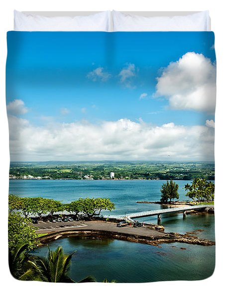 A Beautiful Day Over Hilo Bay Duvet Cover by Christopher Holmes
