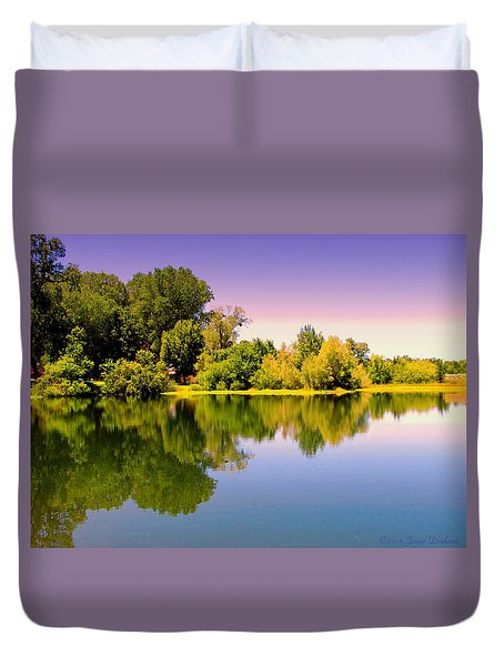 A Beautiful Day Reflected Duvet Cover by Joyce Dickens