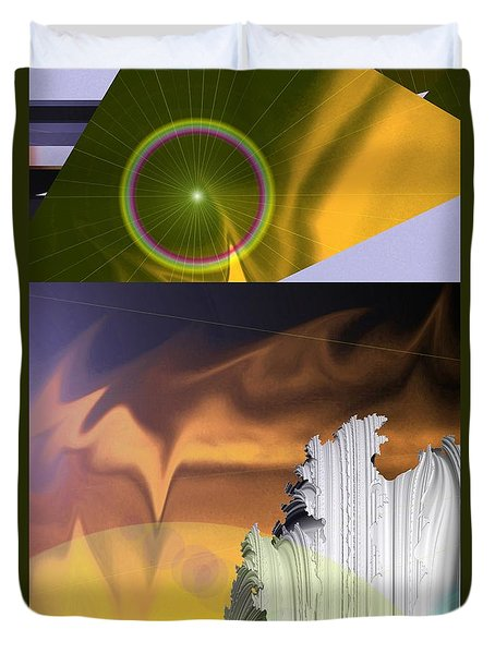 A Beautiful Mad Mad World Duvet Cover by Jeff Swan