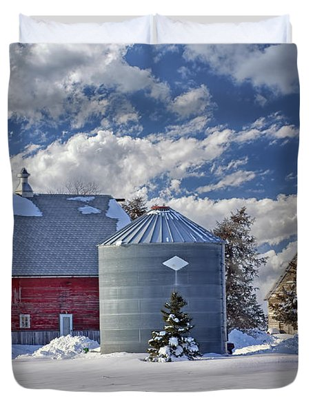 A Beautiful Winter Day Duvet Cover