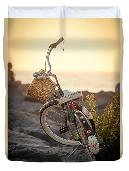 A Bike And Chi Duvet Cover