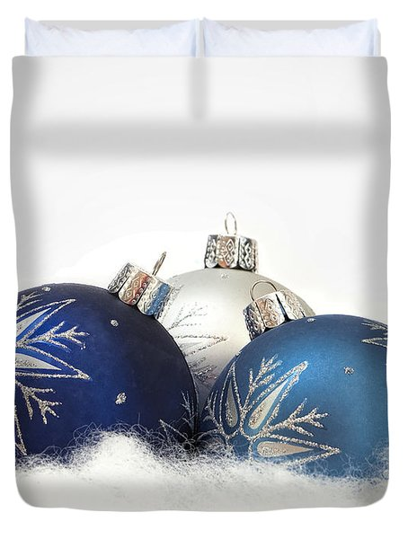 Duvet Cover featuring the photograph A Blue Christmas by Andrew Soundarajan