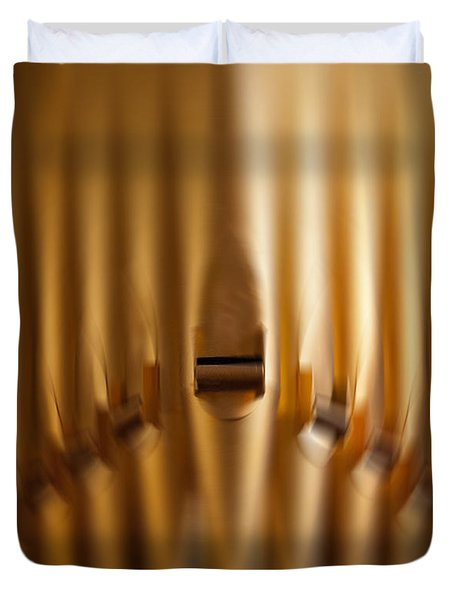 A Blur Of Pipes Duvet Cover
