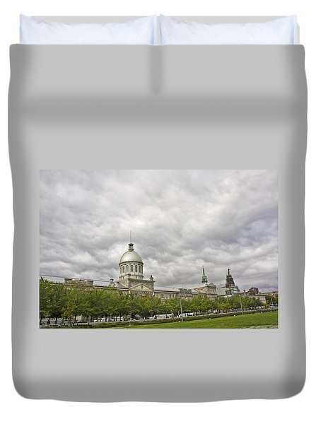 A Bonsecours Day  Duvet Cover