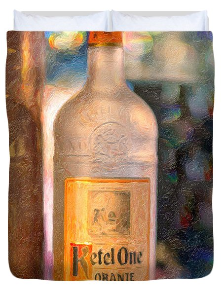 A Bottle Of Ketel One Duvet Cover by Angela A Stanton