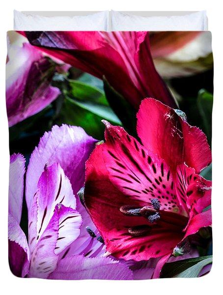 A Bouquet Of Peruvian Lilies Duvet Cover