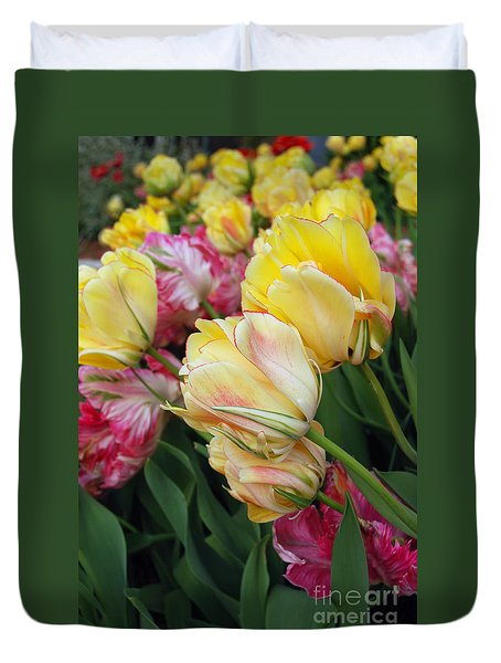 A Bouquet Of Tulips For You Duvet Cover by Eva Kaufman