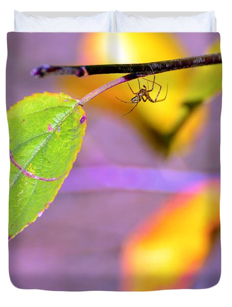 A Branch With Leaves Duvet Cover by Tommytechno Sweden