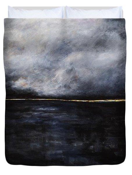A Break In The Skyline Duvet Cover by Frances Marino