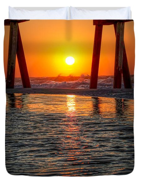 A Captive Sunrise Duvet Cover by Tim Stanley