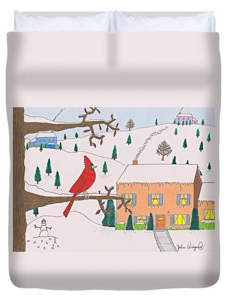 A Cardinal Christmas Duvet Cover