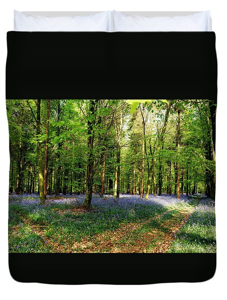 Duvet Cover featuring the photograph A Carpet Of Colour by Wendy Wilton