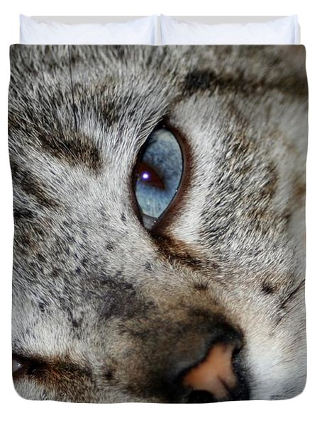 A Cat Named...blue Duvet Cover by Barbara S Nickerson