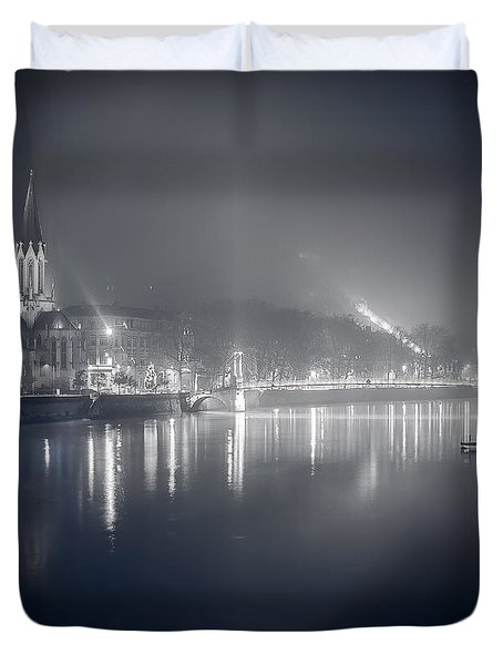 Duvet Cover featuring the photograph A Cathedral In The Mist II by Stwayne Keubrick