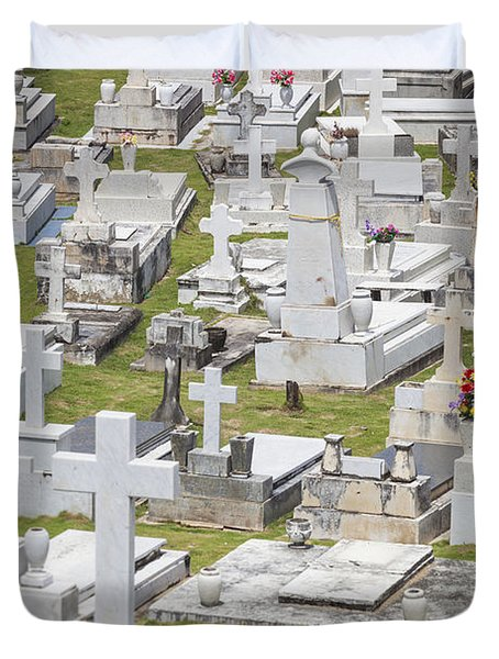 A Cemetery In Old San Juan Puerto Rico Duvet Cover