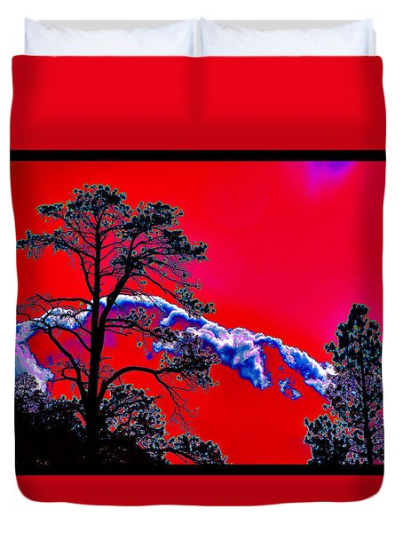 Duvet Cover featuring the photograph A Certain Cosmic Ecology by Susanne Still