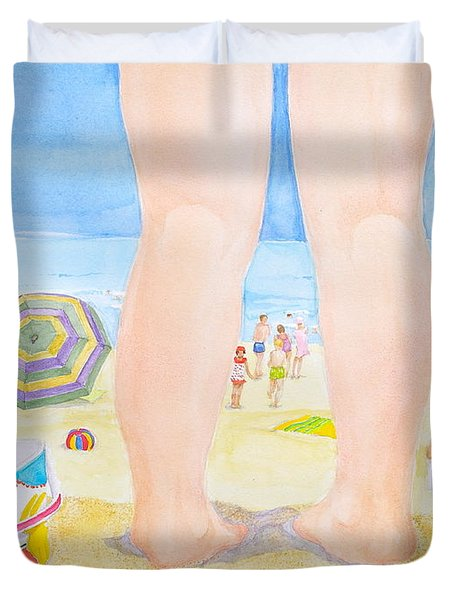 A Child Remembers The Beach Duvet Cover