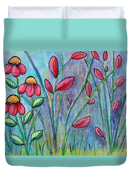 A Child's Garden Duvet Cover by Suzanne Theis