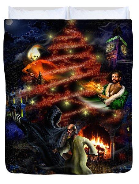 A Christmas Carol Duvet Cover by Alessandro Della Pietra