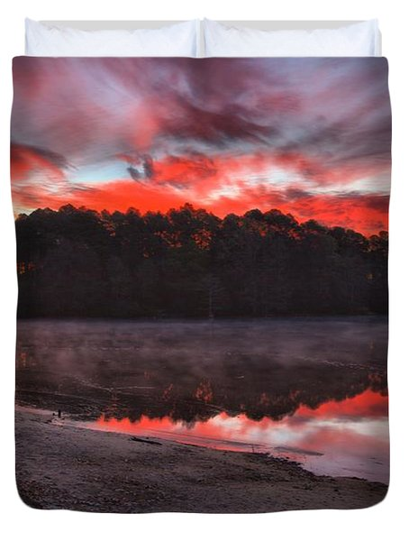 A Christmas Eve Sunrise Duvet Cover