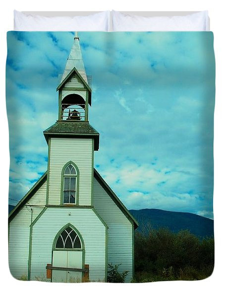 A Church In British Columbia   Duvet Cover by Jeff Swan