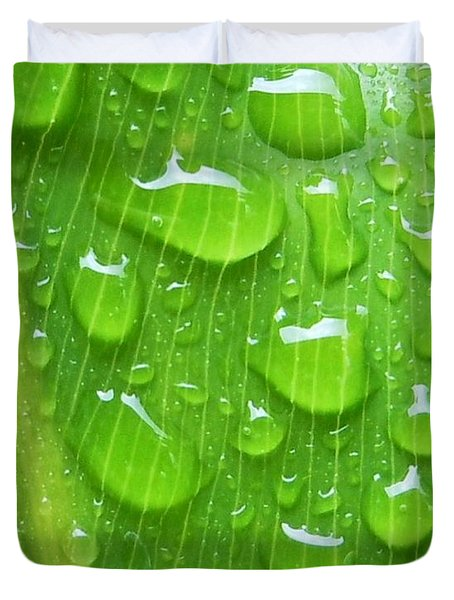 Duvet Cover featuring the photograph A Cleansing Morning Rain by Robert ONeil