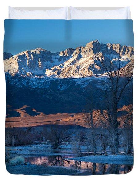 A Cold Dawn Light Duvet Cover