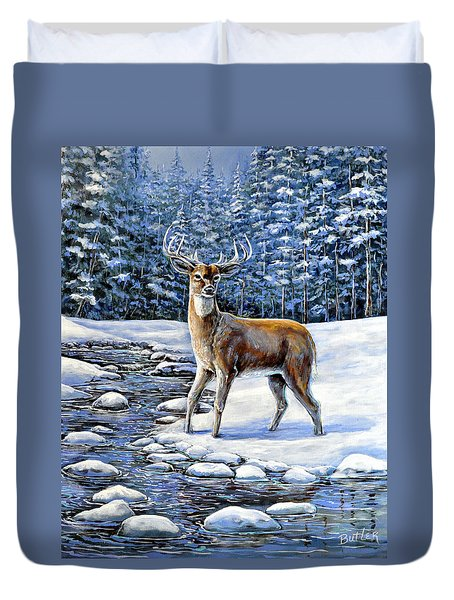 A Cold Drink Duvet Cover by Gail Butler