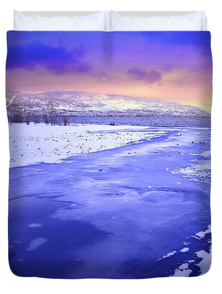 A Cold New Years Eve Duvet Cover by Tara Turner