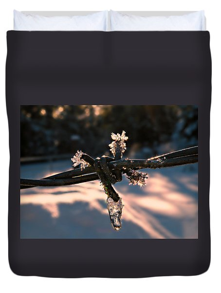 A Cold Welcome Duvet Cover