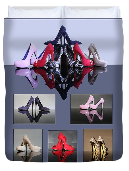 A Collection Of Stiletto Shoes Duvet Cover
