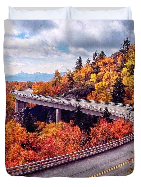 A Colorful Ride Along The Blue Ridge Parkway Duvet Cover