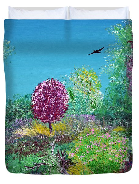 A Corner Of Heaven In Rural Indiana Duvet Cover by Alys Caviness-Gober