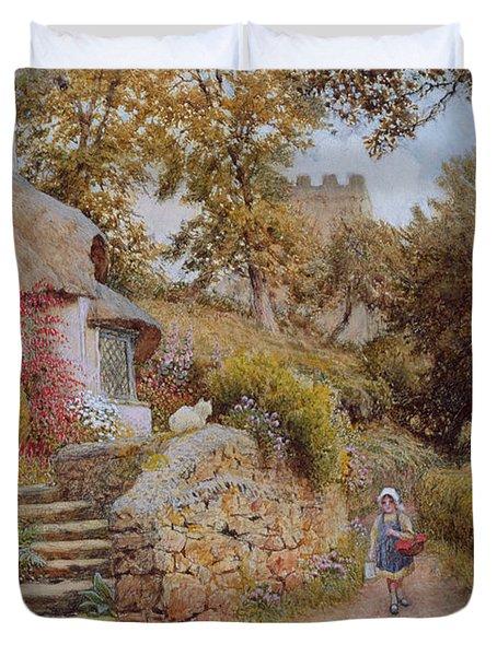 A Country Lane Duvet Cover by Arthur Claude Strachan