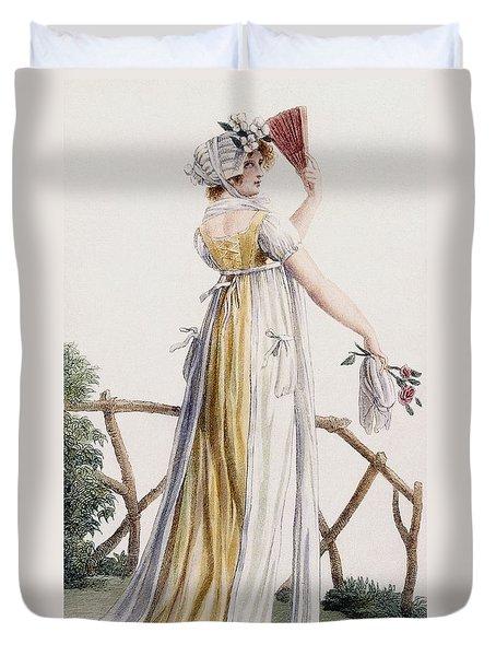 A Country Style Ladies Dress Duvet Cover by Pierre de La Mesangere