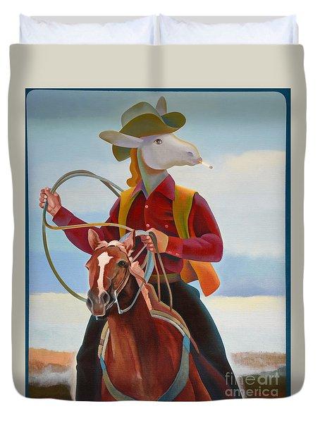 A Cowboy Duvet Cover by Jukka Nopsanen