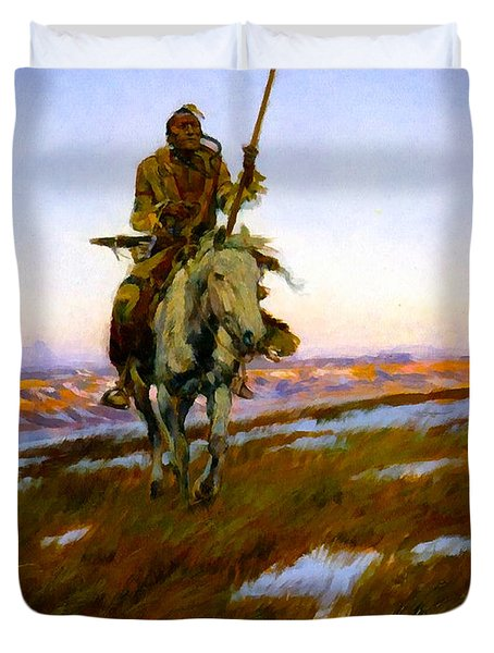 A Cree Indian Duvet Cover
