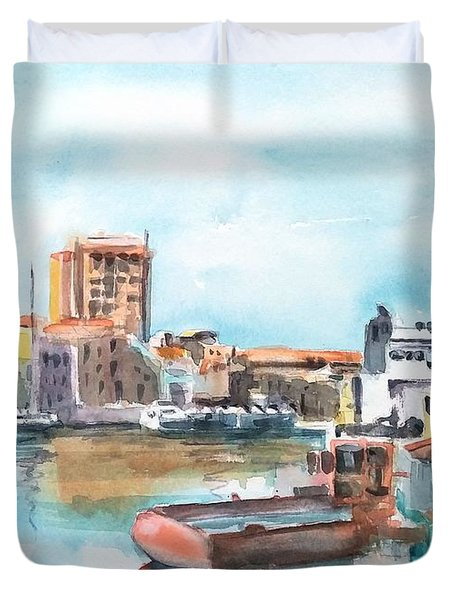 A Curacao Morning Duvet Cover