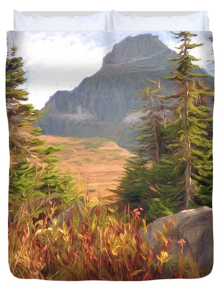 A Day At Glacier Duvet Cover by Richard Rizzo