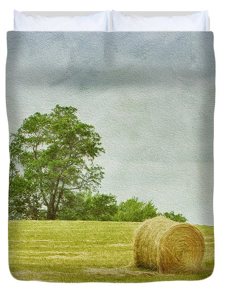 A Day At The Farm Duvet Cover by Kim Hojnacki