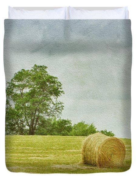 A Day At The Farm Duvet Cover by Kim Hojnacki