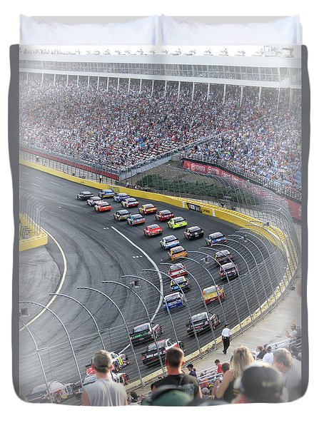 A Day At The Racetrack Duvet Cover by Karol Livote