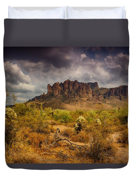 A Day At The Superstitions  Duvet Cover