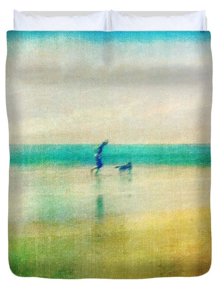 A Day By The Sea Duvet Cover by Suzy Norris