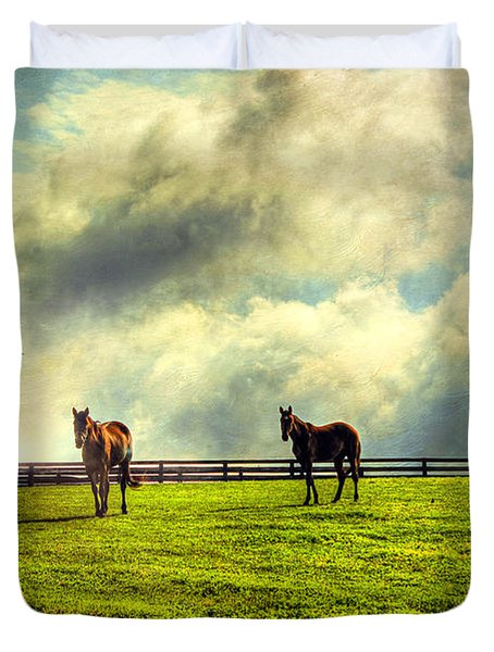 A Day In Kentucky Duvet Cover by Darren Fisher